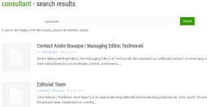 Search for  consultant    Technorati
